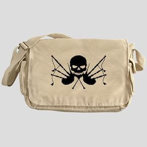 Skull & Crossdrones, Black Messenger Bag
