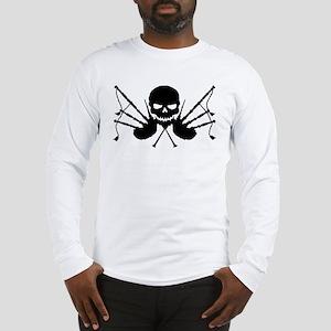 Skull & Crossdrones, Black Long Sleeve T-Shirt