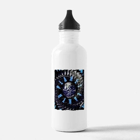 planet earth Water Bottle