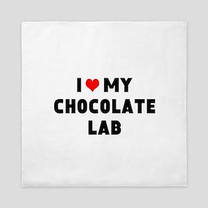 I 3 my chocolate lab Queen Duvet