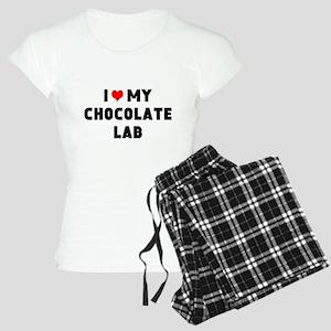 I 3 my chocolate lab Women's Light Pajamas