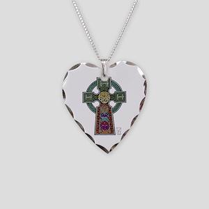 Celtic Cross Necklace Heart Charm