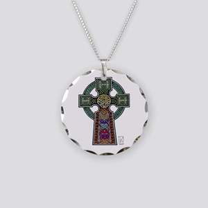 Celtic Cross Necklace Circle Charm