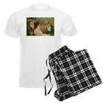 Two male brother lions Men's Light Pajamas