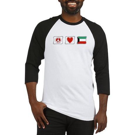 Peace, Love and Kuwait Baseball Jersey