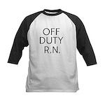 Off Duty RN Kids Baseball Jersey