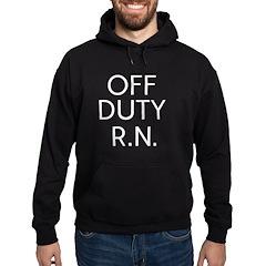 Off Duty RN white.png Hoodie (dark)