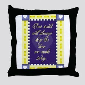 Our souls keep the love. Throw Pillow