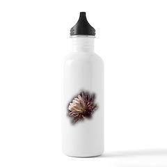 White Cactus Flower Water Bottle