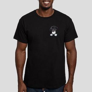 Pocket Havanese Men's Fitted T-Shirt (dark)