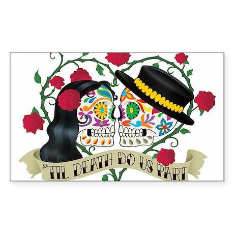 Day Of The Dead Wedding Sticker