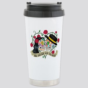 Day Of The Dead Wedding Stainless Steel Travel Mug