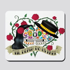 Day Of The Dead Wedding Mousepad