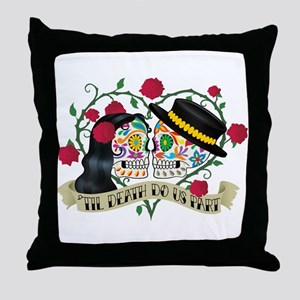 Day Of The Dead Wedding Throw Pillow
