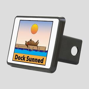 Dock Sunned Dachshund Rectangular Hitch Cover