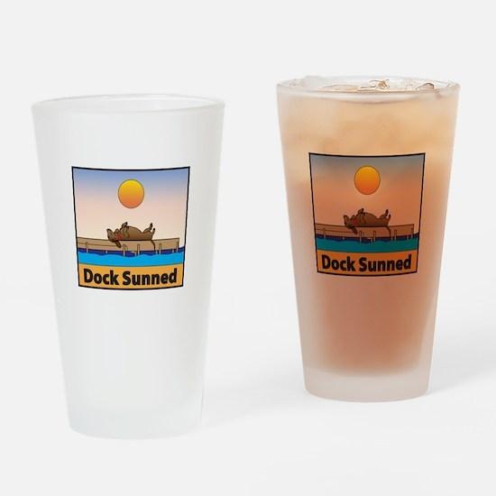 Dock Sunned Dachshund Drinking Glass