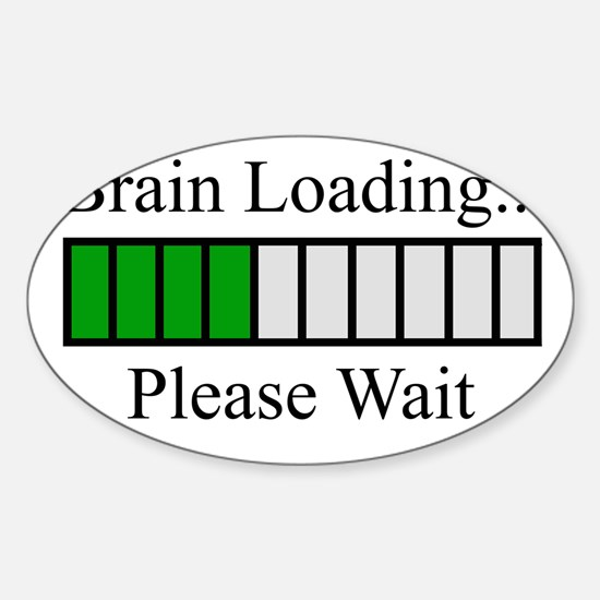 Brain Loading Bar Sticker (Oval)
