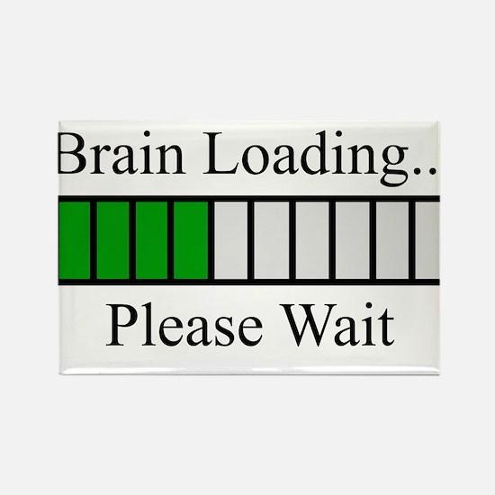Brain Loading Bar Rectangle Magnet