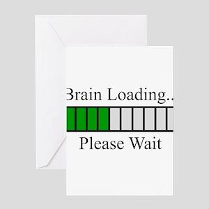 Brain Loading Bar Greeting Card
