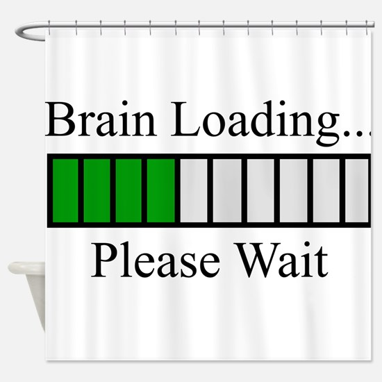 Brain Loading Bar Shower Curtain