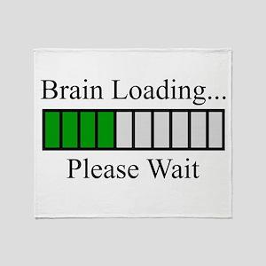 Brain Loading Bar Throw Blanket