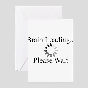 Brain Loading Circle Greeting Card