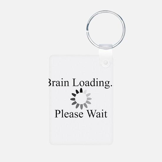 Brain Loading Circle Keychains