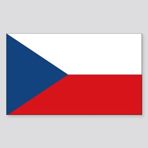 Czech Republic Flag Sticker (Rectangle)