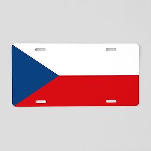 Czech Republic Flag Aluminum License Plate