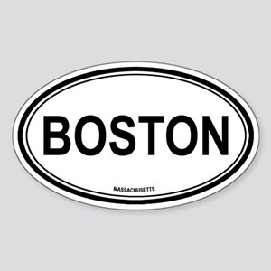 Boston (Massachusetts) Oval Sticker