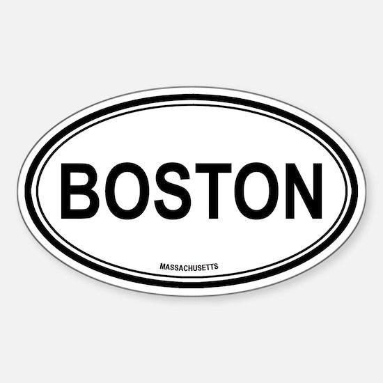 Boston (Massachusetts) Oval Bumper Stickers