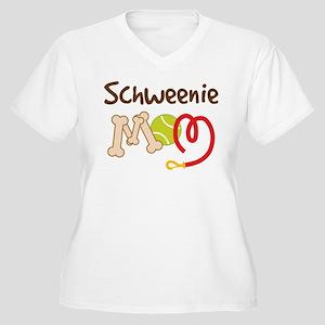 Schweenie Dog Mom Women's Plus Size V-Neck T-Shirt
