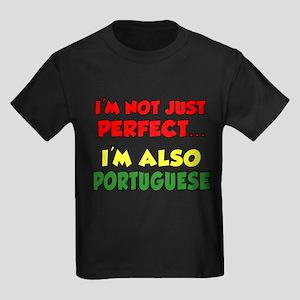 Not Just Perfect Portuguese Kids Dark T-Shirt