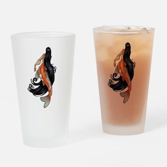 Koi Mermaid Drinking Glass
