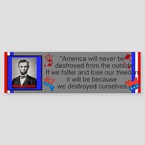 Destroy Ourselves Sticker (Bumper)