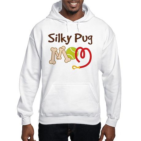 Silky Pug Dog Mom Hooded Sweatshirt