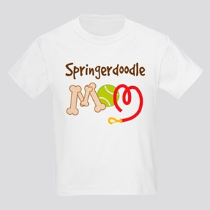 Springerdoodle Dog Mom Kids Light T-Shirt