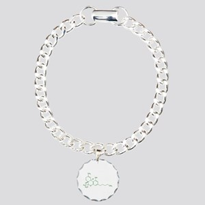 Tetrahydrocannabinol THC Charm Bracelet, One Charm