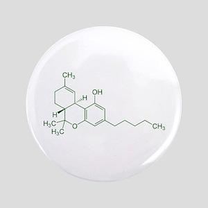 "Tetrahydrocannabinol THC 3.5"" Button"