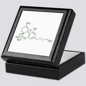 Tetrahydrocannabinol THC Keepsake Box