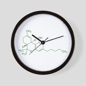 Tetrahydrocannabinol THC Wall Clock