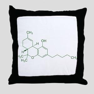 Tetrahydrocannabinol THC Throw Pillow
