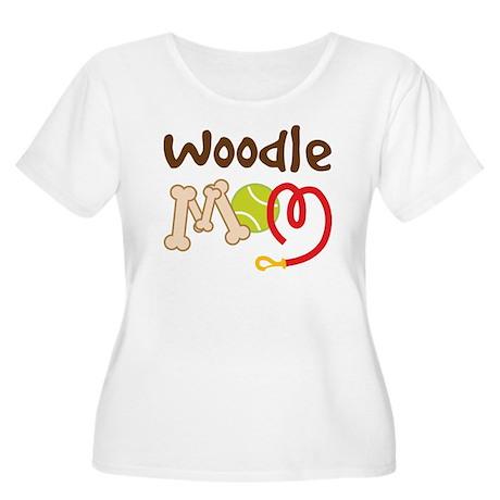 Woodle Dog Mom Women's Plus Size Scoop Neck T-Shir