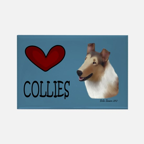 Smooth Collie Rectangle Magnet