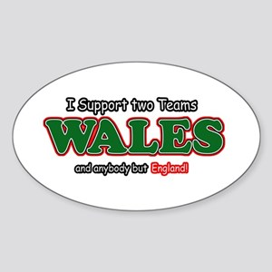 Funny Welsh designs Sticker (Oval)