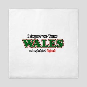 Funny Welsh designs Queen Duvet