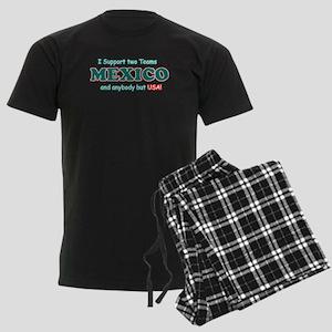 Funny Mexico Designs Men's Dark Pajamas