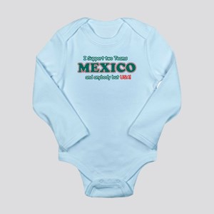 Funny Mexico Designs Long Sleeve Infant Bodysuit