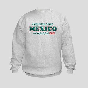 Funny Mexico Designs Kids Sweatshirt