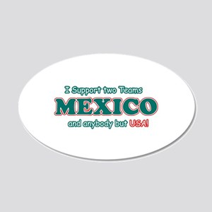 Funny Mexico Designs 20x12 Oval Wall Decal